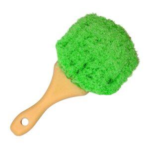 Soft Body Brush Green Polystyrene 8.5 inch