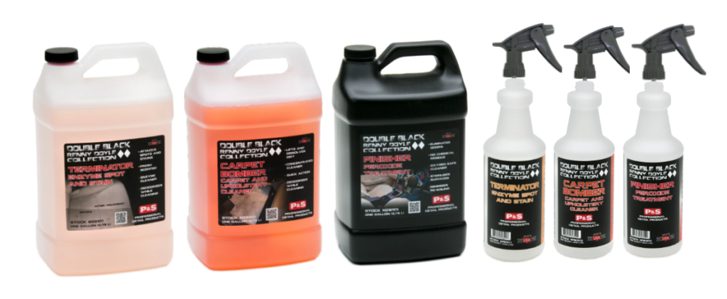 P&S Double Black Carpet and Upholstery Gallons & 3 Bottles with Sprayers Kit
