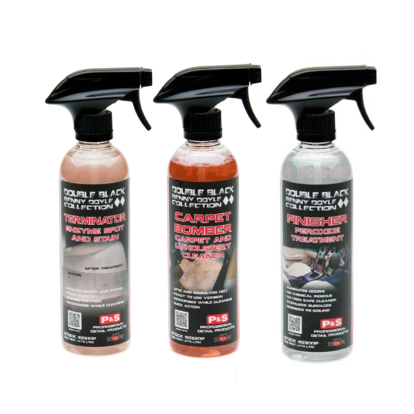 P&S DOUBLE BLACK CARPET & UPHOLSTERY CLEANER KIT - SET OF 3