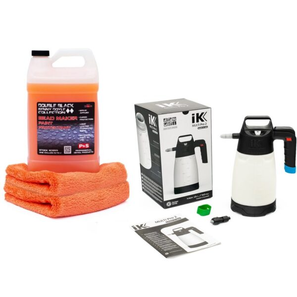 P&S Bead Maker Spray Sealant + IK Multi Pro II Sprayer + 2 Towels Combo Kit