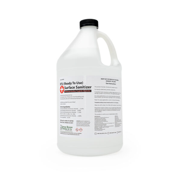 READY TO USE (RTU) SURFACE SANITIZER (DISINFECTANT - SANITIZER - FUNGICIDE - DEODORIZER) - RAMSAY BROWNE CHEMICAL & CO.