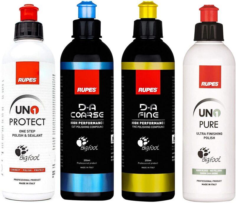 Rupes |The New DA System Combo Kit | 4 bottles for 8.5 fl oz | polishing & compound