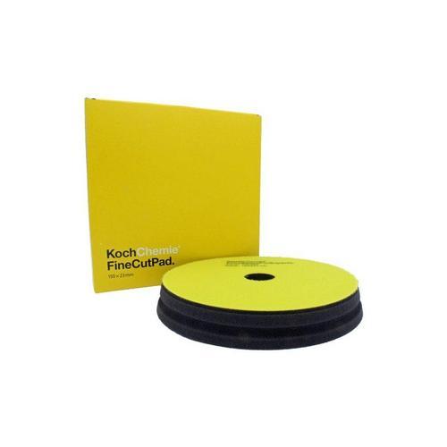 "6"" Koch Chemie Fine Cut Pad | Yellow Foam Medium Polishing"