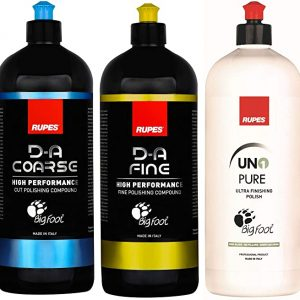 Rupes New DA System Combo Kit | 3 Bottles-1 Liter | Polish & Compound