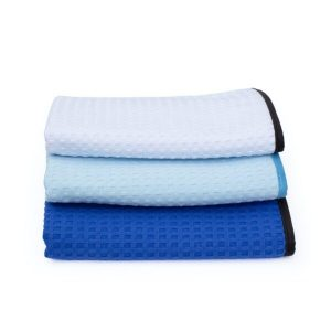 Dry Me A River Waffle-Weave Towel - White 16x24