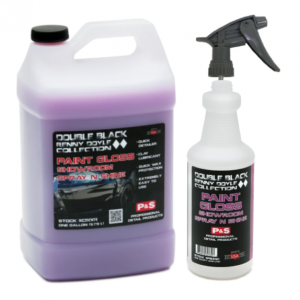 P&S DOUBLE BLACK PAINT GLOSS SHOWROOM SPRAY N SHINE GALLON W/ BOTTLE & TRIGGER